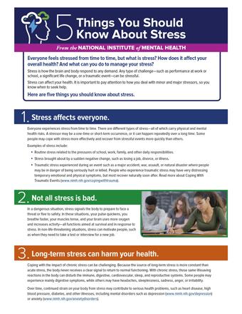 5 choses à savoir sur le stress